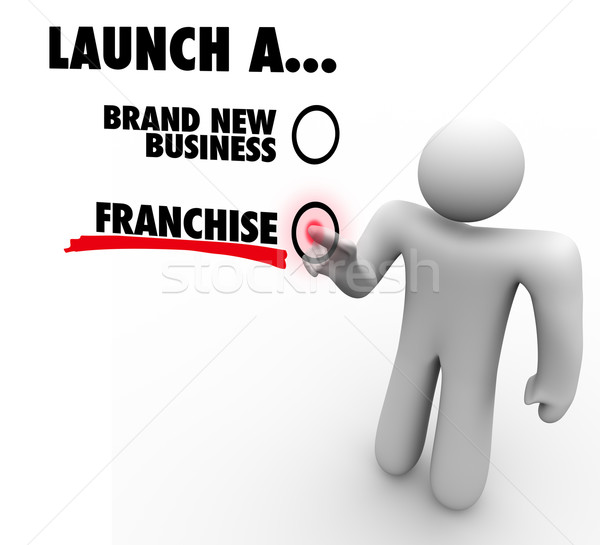 Launch Franchise or Brand New Business Entrepreneur Start Compan Stock photo © iqoncept