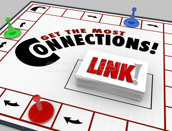 Get the Most Connections Words Board Game Link Networking Stock photo © iqoncept