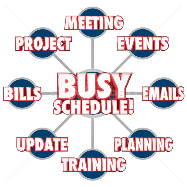 Busy Schedule Jobs Tasks Stressful Working Life To Do LIst Stock photo © iqoncept