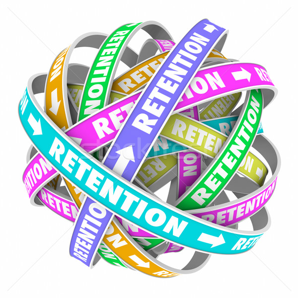 Retention Word Cycle Retain Customers Employees Stock photo © iqoncept