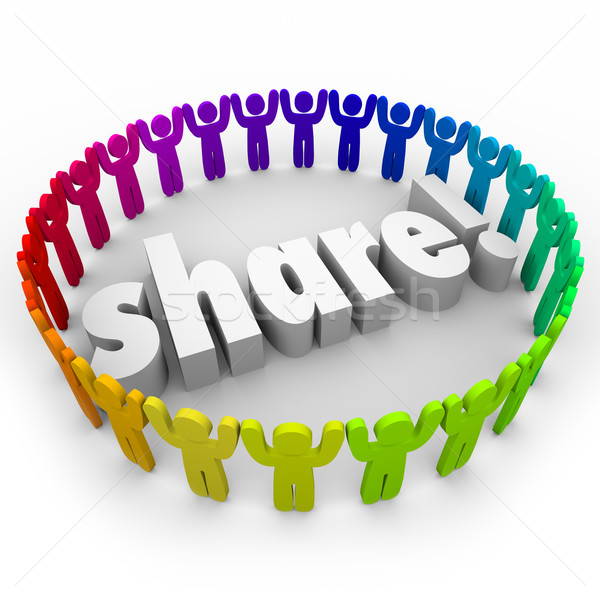 Share People Joining Together Community Giving Volunteer Helping Stock photo © iqoncept