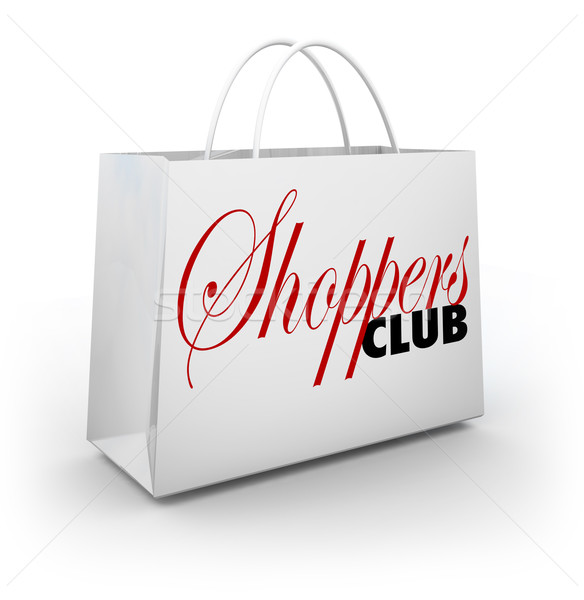 Shoppers Club Shopping Bag Store Buying Customer Product Service Stock photo © iqoncept
