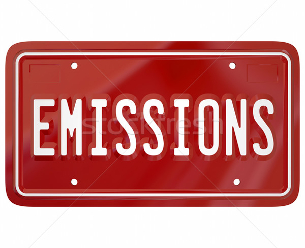 Emissions License Plate Car Auto Vehicle Standards Laws Stock photo © iqoncept