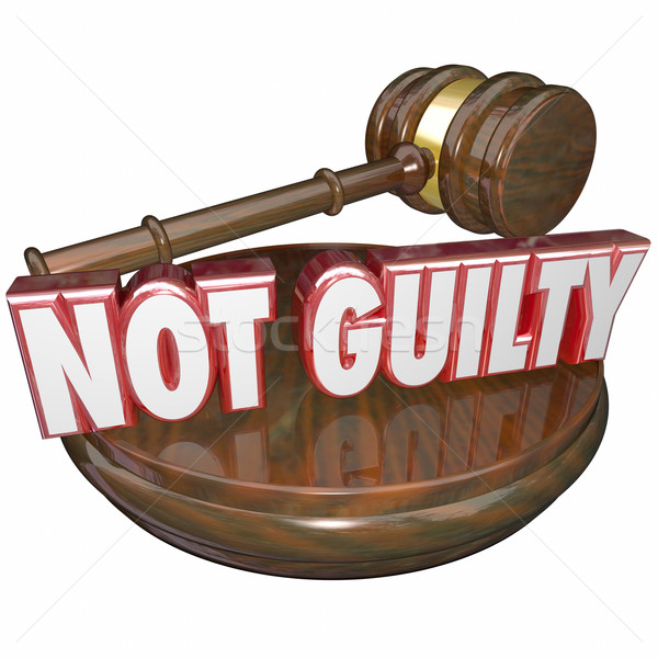 Not Guilty Judge Decision Acquital Innocent Verdict Stock photo © iqoncept