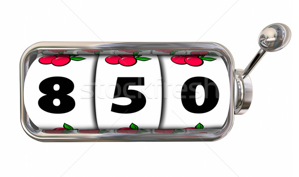 850 Credit Score Report Rating Number Slot Machine Wheels Stock photo © iqoncept