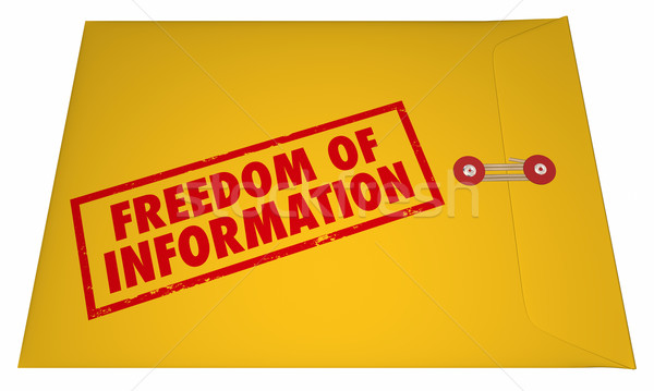Freedom of Information Act Government Documents Unsealed Envelop Stock photo © iqoncept