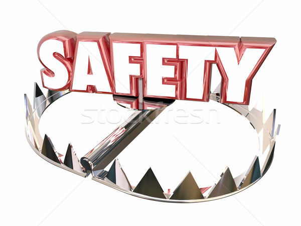 Safety Avoid Danger Protection Security Bear Trap 3d Word Stock photo © iqoncept
