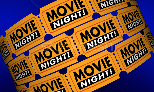 Movie Night Tickets Showtime Cinema Theater Film 3d Illustration Stock photo © iqoncept