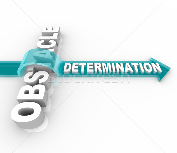 Determination Overcomes an Obstacle Stock photo © iqoncept