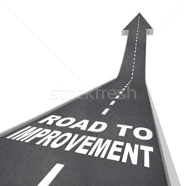 Road to Improvement - Words on Street Stock photo © iqoncept
