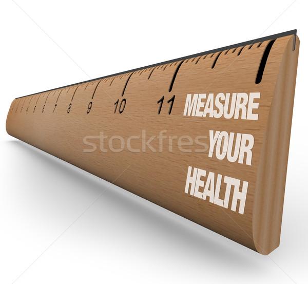 Ruler - Measure Your Health Stock photo © iqoncept