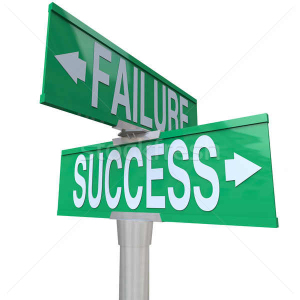 Decision at Turning Point of Success vs Failure - Two-Way Street Stock photo © iqoncept