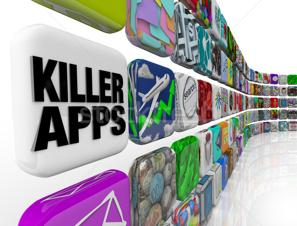 Killer Apps Laden Anwendungen Software kaufen Stock foto © iqoncept