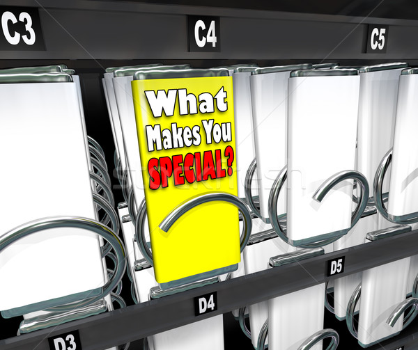 What Makes You Special One Unique Choice Vending Machine Stock photo © iqoncept