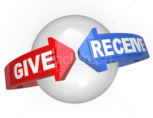 Give and Receive Sharing Support Helping Others Stock photo © iqoncept