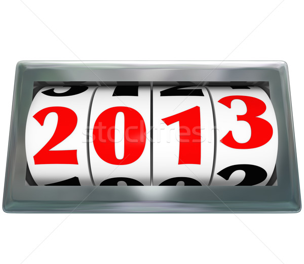 Odometer Reading 2013 Ticking Down to New Year Stock photo © iqoncept