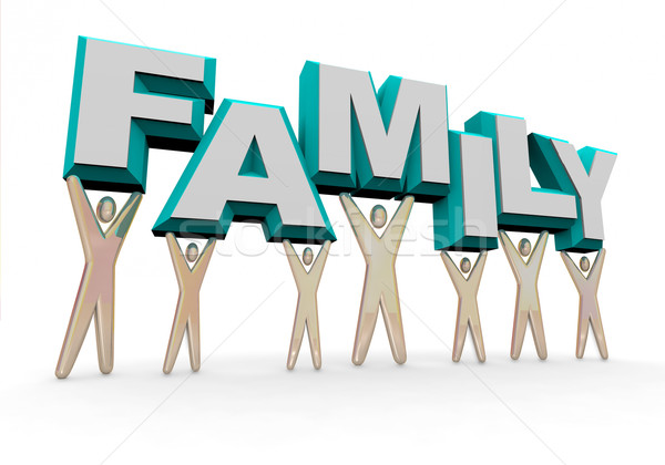 Family - Lifting the Word Stock photo © iqoncept