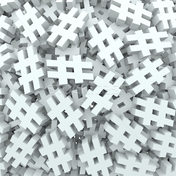 Hash Tag Number Pound Symbol Message Background Stock photo © iqoncept