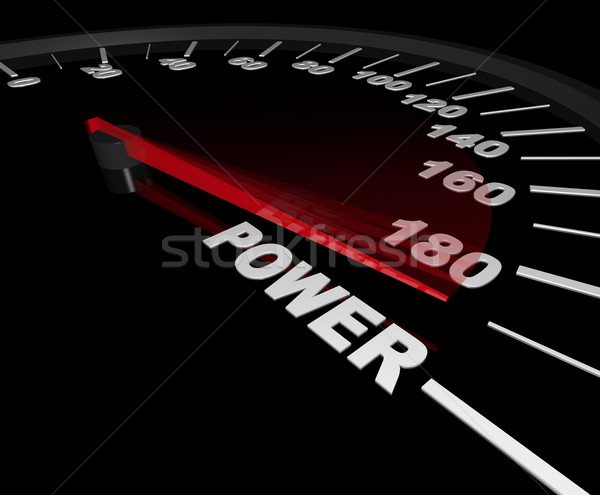 Power - Speedometer to the Max Stock photo © iqoncept