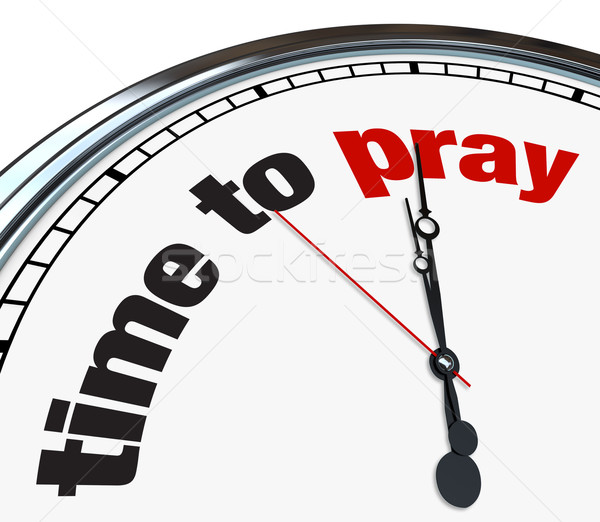 Time to Pray - Clock Stock photo © iqoncept