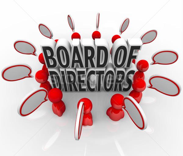Board of Directors People Speech Bubbles Discussion Company Lead Stock photo © iqoncept