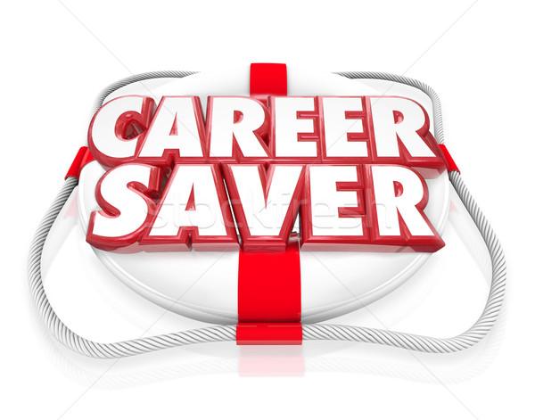 Career Saver Life Preserver Career Job Rescue Stock photo © iqoncept
