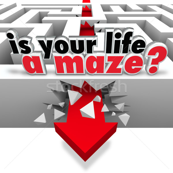 Stock photo: Is Your Life a Maze Directionless Need Help Guidance
