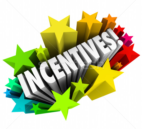 Incentives 3d Word Stars Fireworks Advertising Promotion Rewards Stock photo © iqoncept