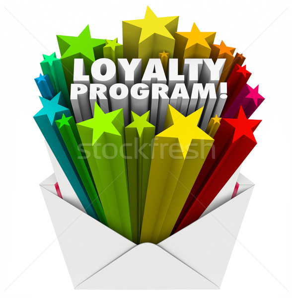 Stock photo: Loyalty Program Envelope Invitation Marketing Advertising Mailer