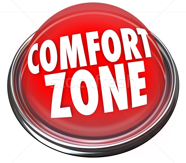 Comfort Zone Words Button Safety Security Stock photo © iqoncept