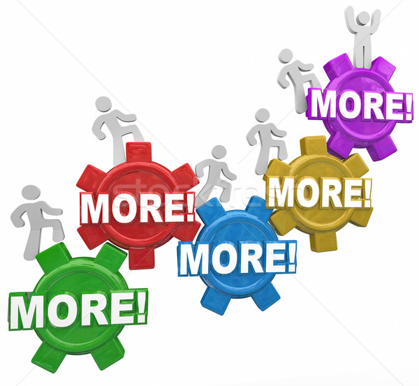 More Increase Improve Results People Climbing Gears Productivity Stock photo © iqoncept
