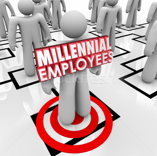 Hiring Millennial Employees Organization Chart Staff Young Workf Stock photo © iqoncept