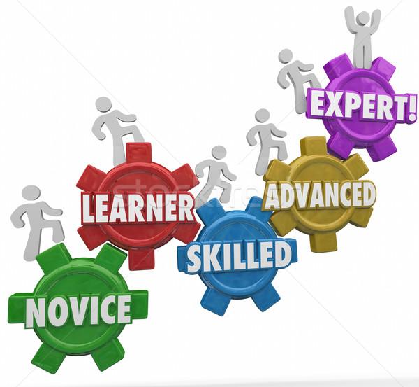 Aprendizaje experto avanzado personas Foto stock © iqoncept