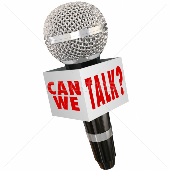Can We Talk Microphone Box Interview Response Feedback Stock photo © iqoncept