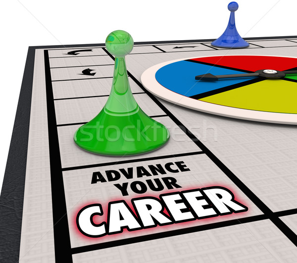Advance Your Career Board Game Piece Moving Forward Promotion Stock photo © iqoncept