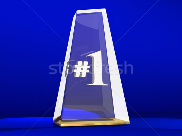 Number One 1 Award Trophy Top Prize Animation Stock photo © iqoncept