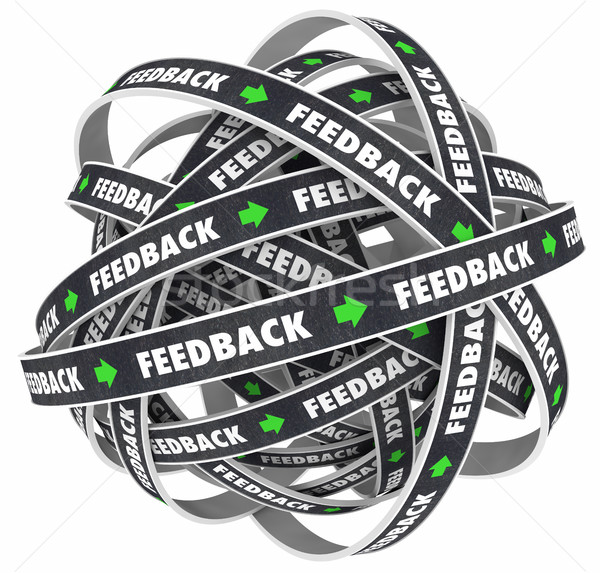 Feedback Loop Comments Response Roads Words 3d Illustration Stock photo © iqoncept