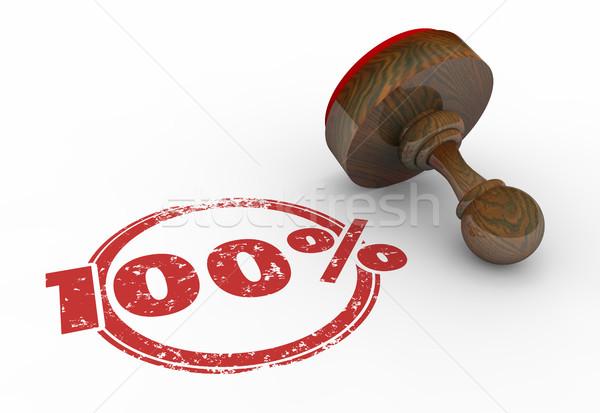 100 Percent Stamp Perfect Total Best Score Grade 3d Illustration Stock photo © iqoncept