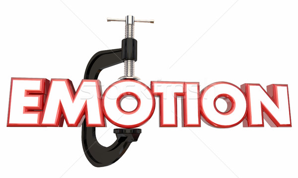 Emotion Suppress Hold Down Inside Clamp Vice Word 3d Illustratio Stock photo © iqoncept