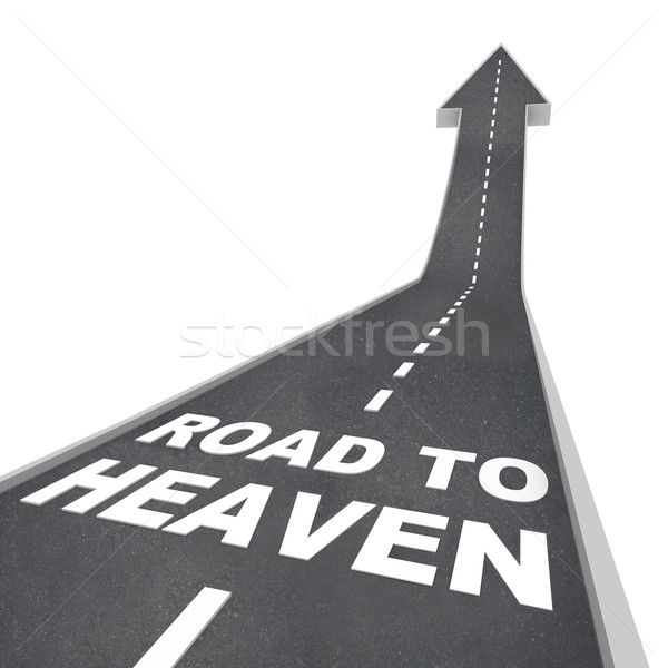 Road to Heaven - Words on Street Stock photo © iqoncept