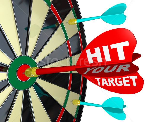 Hit Your Target Dart on Dartboard Achieve Success Stock photo © iqoncept