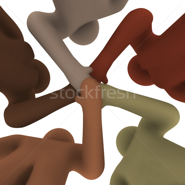 Diverse People Joining Hands - From Below Stock photo © iqoncept