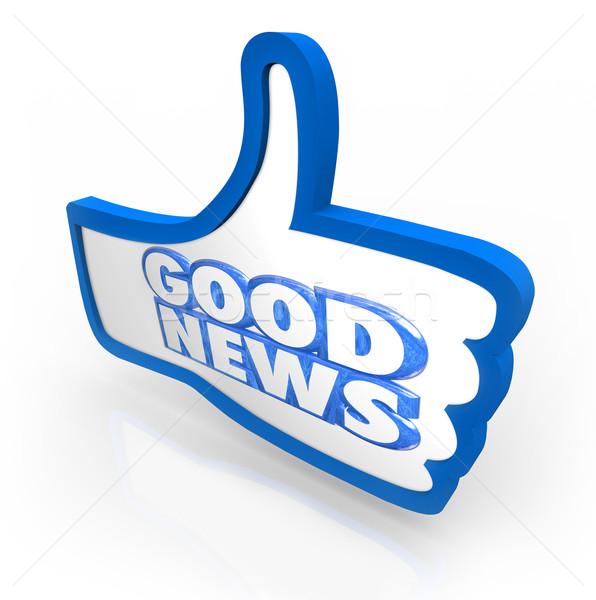 Una buena noticia como anuncio importante actualizar Foto stock © iqoncept