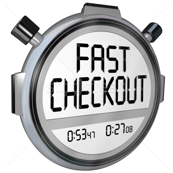 Fast Checkout Store Buy Purchase Quick Service Stopwatch Timer Stock photo © iqoncept