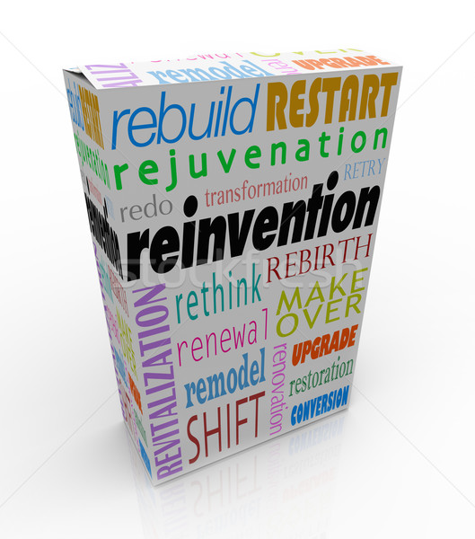Reinvention Product Package Box Renew Refresh Revitalize Stock photo © iqoncept