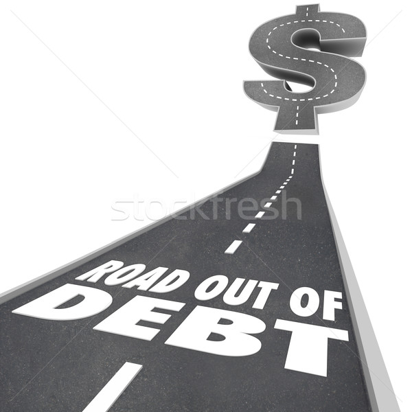 Road Out of Debt Financial Problem Money Help Stock photo © iqoncept