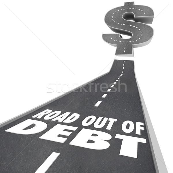 道路 外に 借金 金融 問題 お金 ストックフォト © iqoncept