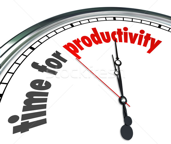 Stock photo: Time for Productivity Clock Efficiency Working Get Results Now