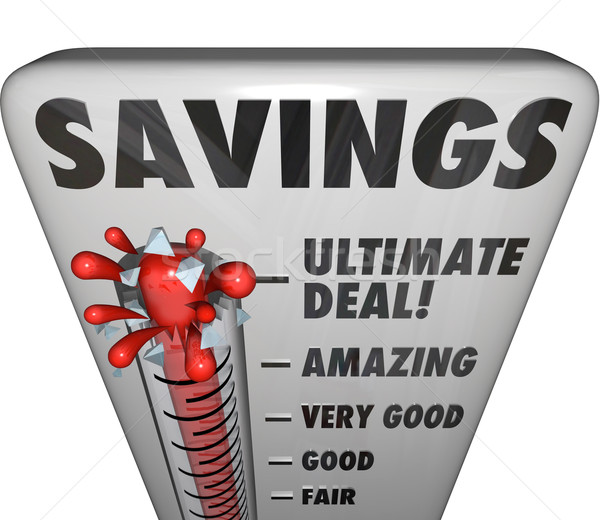 Savings Thermometer Store Sale Discount Bargain Deal Level Stock photo © iqoncept