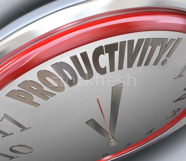 Productivity Clock Increase Efficiency Output More Done Less Tim Stock photo © iqoncept